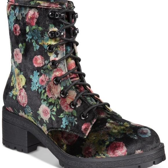 Cute Madden Girl Floral Combat Boots